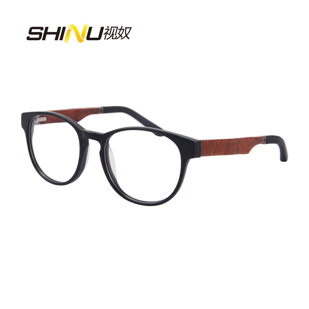 75e5b9e747 Retro Round Wooden Legs Computer Reader Anti Blue Light Reading Eyeglasses  Noline Progressive Multifocal Reading Glasses ZF110