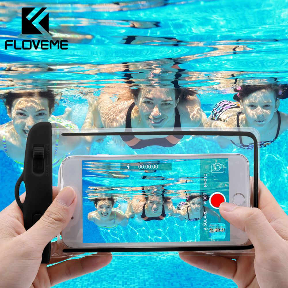 FLOVEME Waterproof Smartphone <font><b>Case</b></font> For <font><b>Phone</b></font> Pouch Bag 6.0 Underwater Luminous <font><b>Phone</b></font> <font><b>Case</b></font> For iPhone XR Huawei Xiaomi Universal image