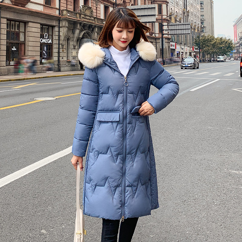-20degrees Women long   Parkas   coat Winter jacket Warm Thicken Hooded Big Fur collar Padded   Parkas   Causal Female Jacket Coat M-3XL