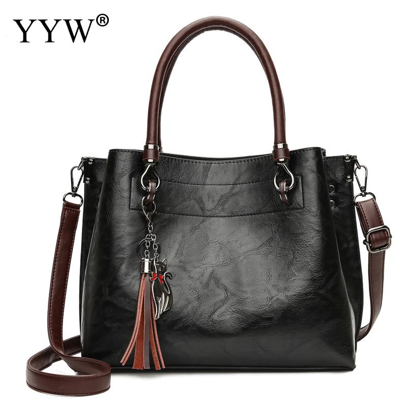Elegant Leather Shoulder Bag For Women High Quality Top Handle Hand Bags Casual Female Bags Tote Ladies Large Bolsos Brown New new arrival designer large women leather handbags female genuine leather tote bags high quality brands top handle bag for ladies