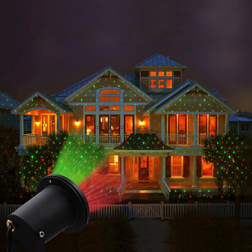 Holiday Decoration Waterproof Outdoor LED Stage Lights Sky Star Laser Projector Lamp Christmas