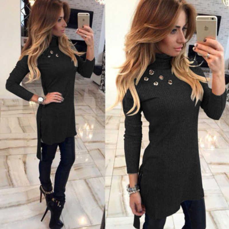 Пикантные пустое отверстие Bodycon платье Для женщин тонкий длинный рукав Платье черного цвета элегантные вечерние Короткое Платье Vestidos De Fiesta зимний джемпер