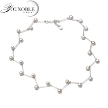 Fashion White Real Natural Freshwater Pearl Necklace For Women,wedding Choker Gift