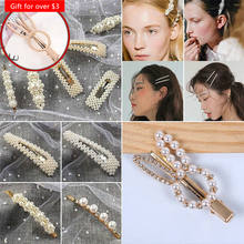 Cute 1 PC Ins Fashion Women Girls Pearl Hair Clip Hairband Snap Barrette Stick Hairpin Hair Styling Tools Hair Accessories cute 1 pc ins fashion women girls pearl hair clip hairband snap barrette stick hairpin hair styling tools hair accessories