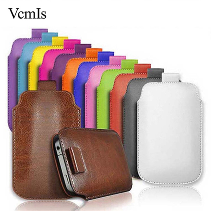 PU Leather Pull Tab Sleeve Pouch For <font><b>Motorola</b></font> Moto <font><b>E4</b></font> <font><b>XT1762</b></font> XT1763 XT1766 XT1768 Phone Case Bag Universal Full Protective Pouch image