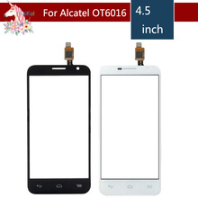 For Alcatel One Touch Idol 2 mini 6016 6016D 6016A 6016E 6016X OT6016 Touch Screen Digitizer Sensor Outer Glass Lens Panel for alcatel one touch idol 2 mini 6016 ot6016 lcd display touch digitizer assembly frame white by free shipping