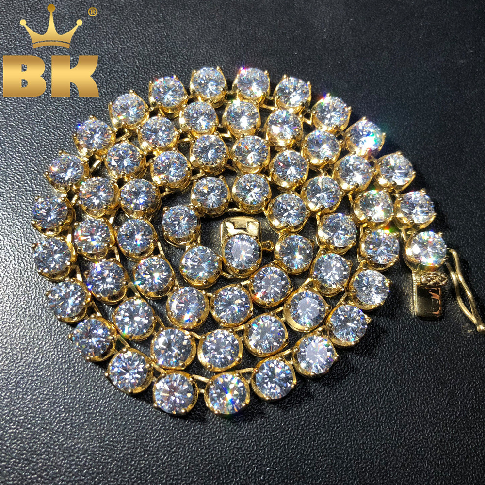 Stainless Steel PVD Plating AAA CZ Tennis Chains Necklace Iced Out Round 4/6mm Cubic Zirconia Single Clasp Fashion JewelryStainless Steel PVD Plating AAA CZ Tennis Chains Necklace Iced Out Round 4/6mm Cubic Zirconia Single Clasp Fashion Jewelry