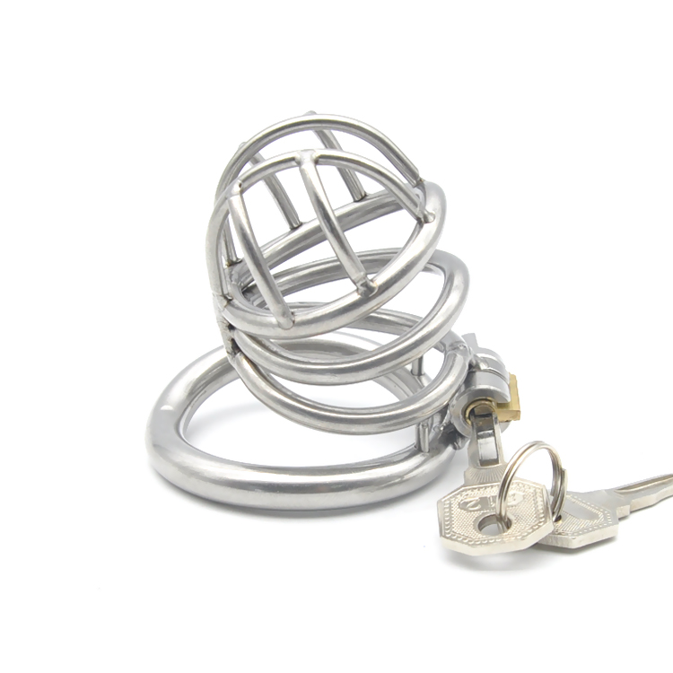 New built in lock arc ring stainless steel male chastity device cb6000s penis cage sex toys for men chastity devices cock cages in Penis Rings from Beauty Health