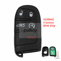 For Chrysler 5 Button Remote Smart Key 433MHz 7953A / ID46 Chip