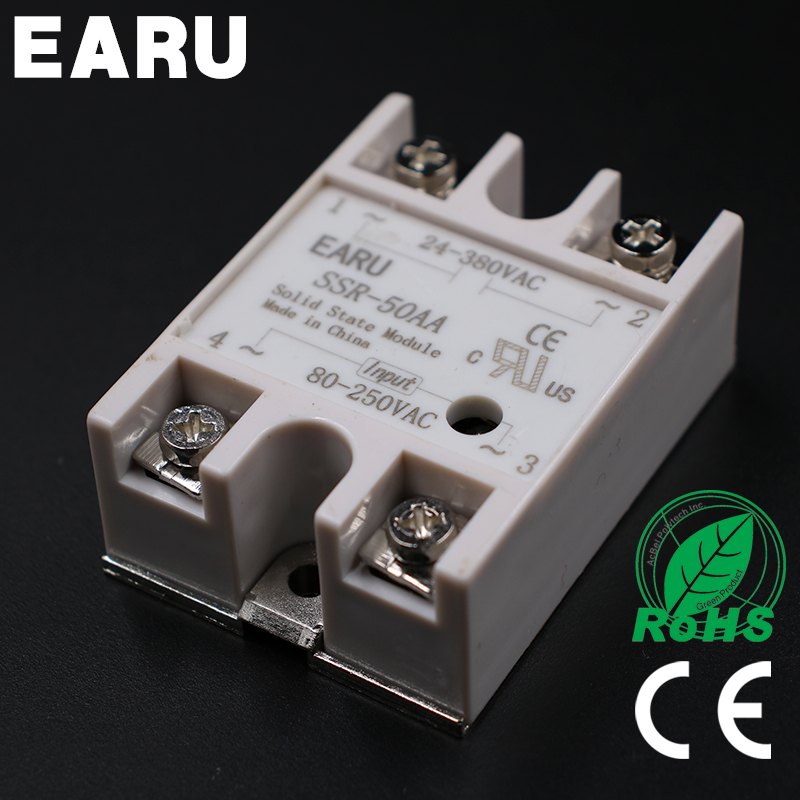 Solid State Relay Module SSR-50AA SSR-50 AA SSR 50A 80-250VAC Input to 24-380VAC Output Industry Control 1pcs solid state relay ssr 50aa h 50a ssr 50aa h ac to ac relay solid state resistance regulator
