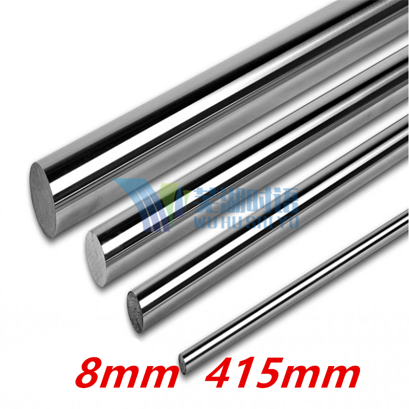 6pcs dia 8mm linear shaft 415mm long for LM8UU 8mm linear ball bearing linear smooth rod 8mm linear shaft group 33pcs l350mm 33pcs l405mm 33pcs l420mm for 8mm rod shaft lm8uu