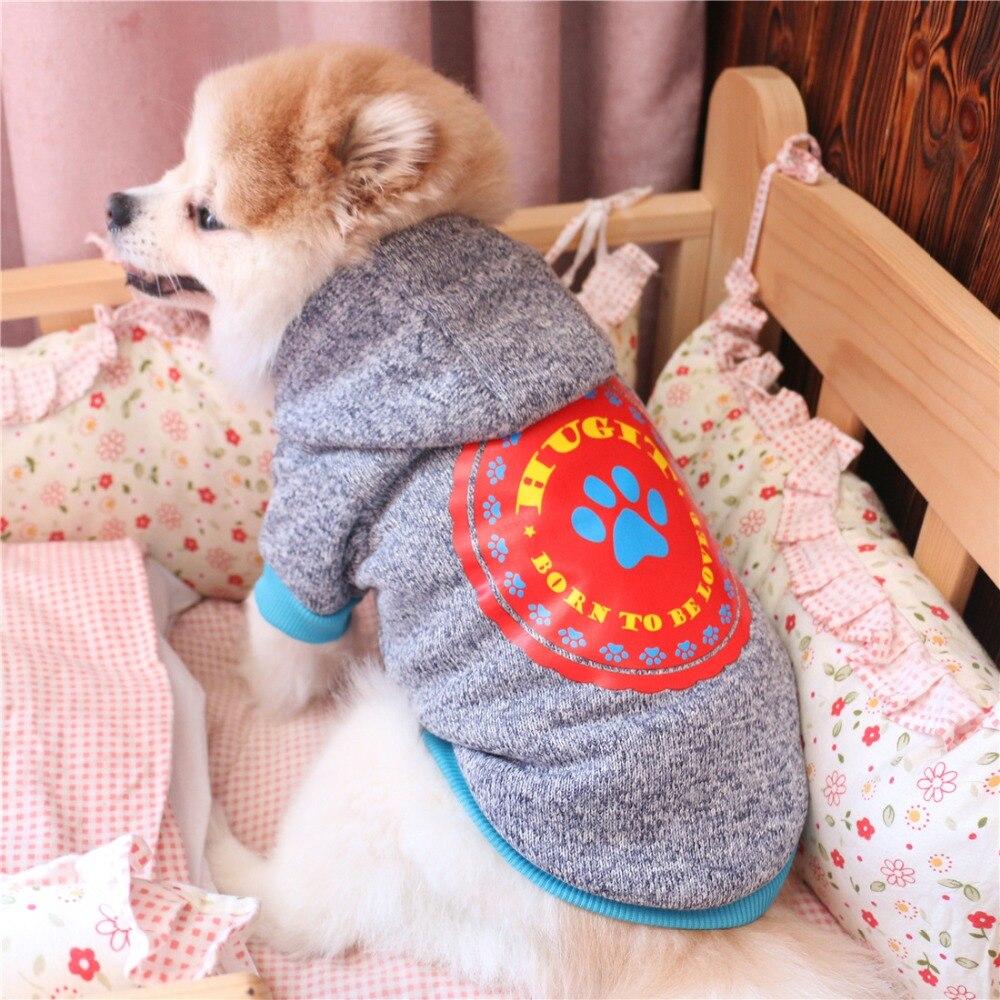 Pet Products Sincere New Denim Dog Jumpsuit Warm Fleece Pet Four-legged Clothes For Small Pet Xs S M L Xl Home & Garden