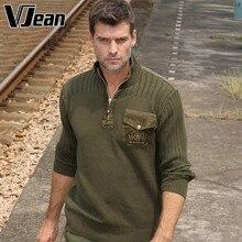 V JEAN Men's Ribbed Quarter-Zip Cotton Sweater #9A713