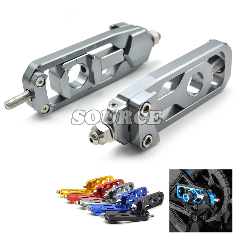 Motorcycle Parts CNC Tensioners Catena  rear axle spindle chain adjuster For YAMAHA MT-09 TRACER FZ-09 FJ-09 MT FZ FJ 09