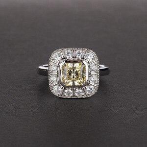 Image 3 - Onerain vintage 100% 925 prata esterlina safira topázio citrino diamantes casamento noivado casal feminino masculino jóias anel