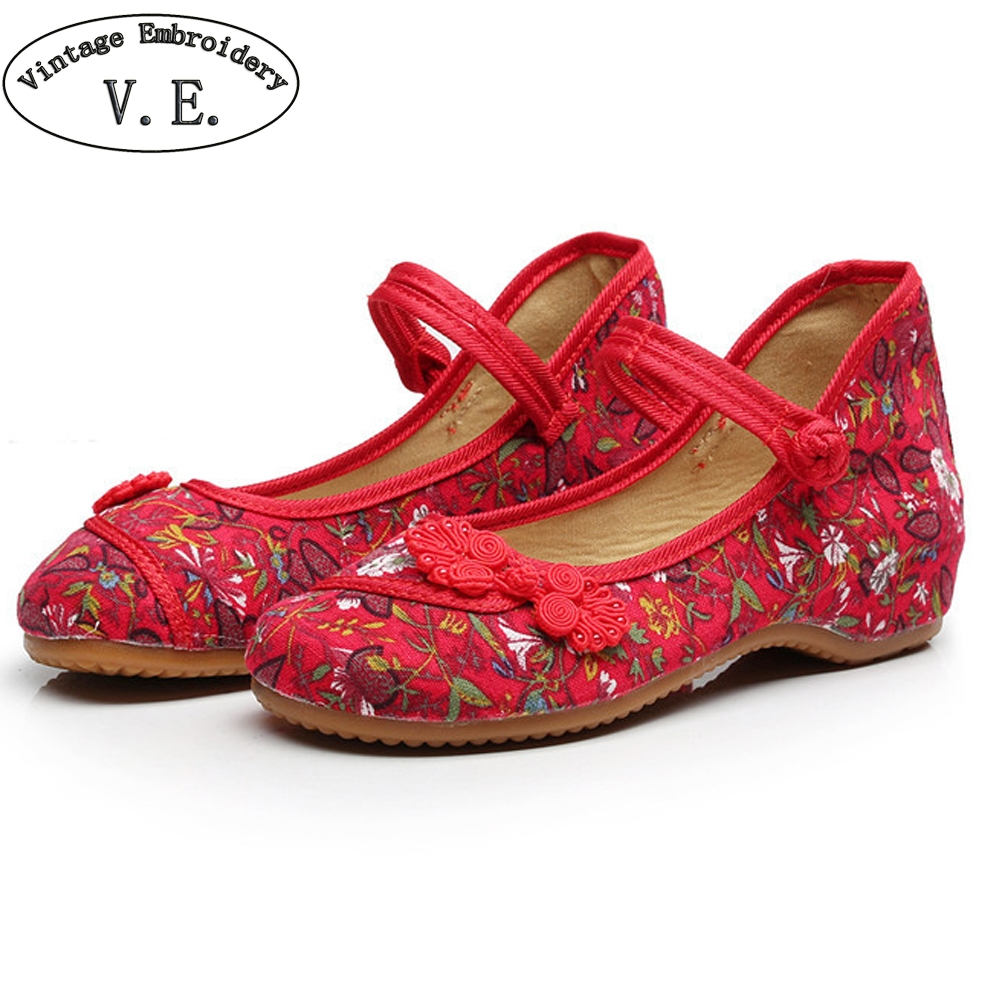 Women Shoes 2018 Spring Autum Old Peking Soft Sole Casual Shoes Flower Printed Dancing Ballet Flats  Shoes for Pregnant vintage embroidery women flats chinese floral canvas embroidered shoes national old beijing cloth single dance soft flats