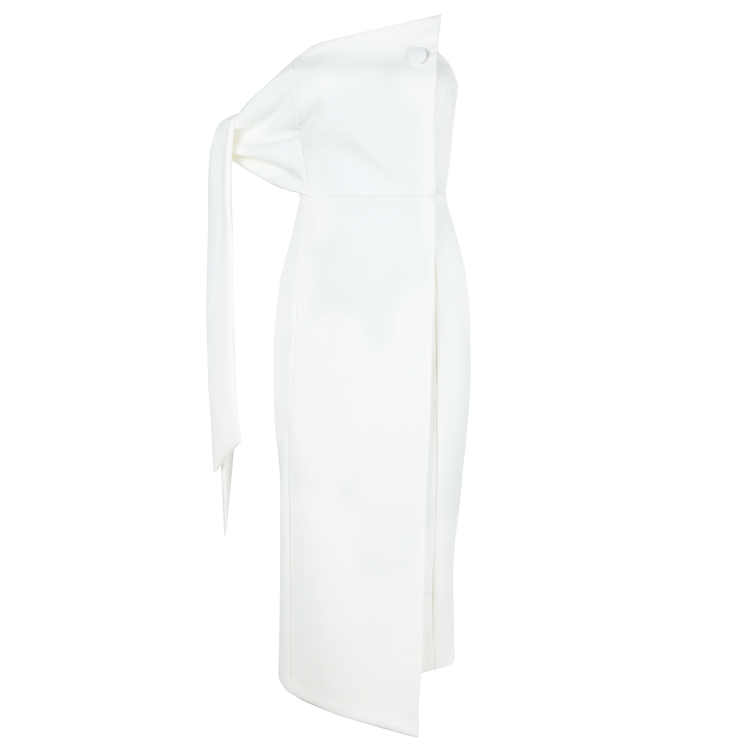 Deavogy 2018 New White One Sleeve Modern Sexy Womens dress Hot Sale