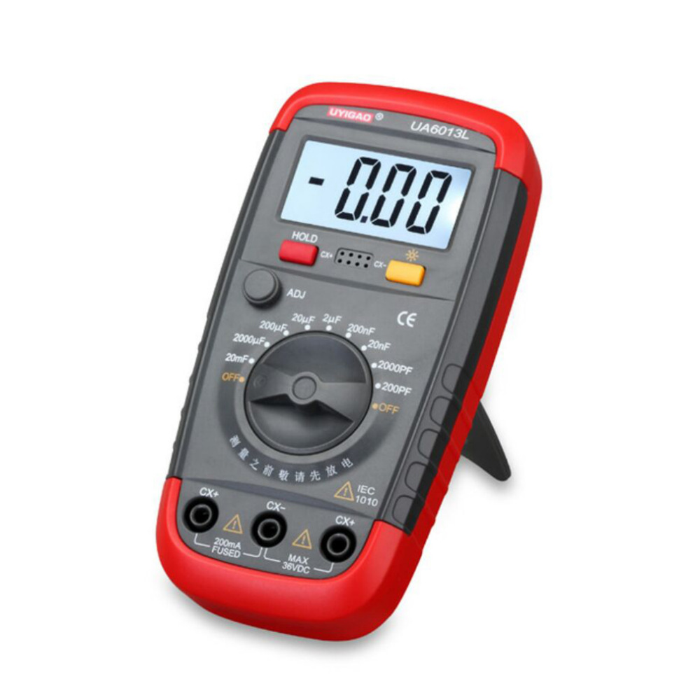 цены 1 Pc UA6013L Auto Range Digital LCD Capacitor Capacitance Test Meter Multimeter Measurement Tester Meter Brand New