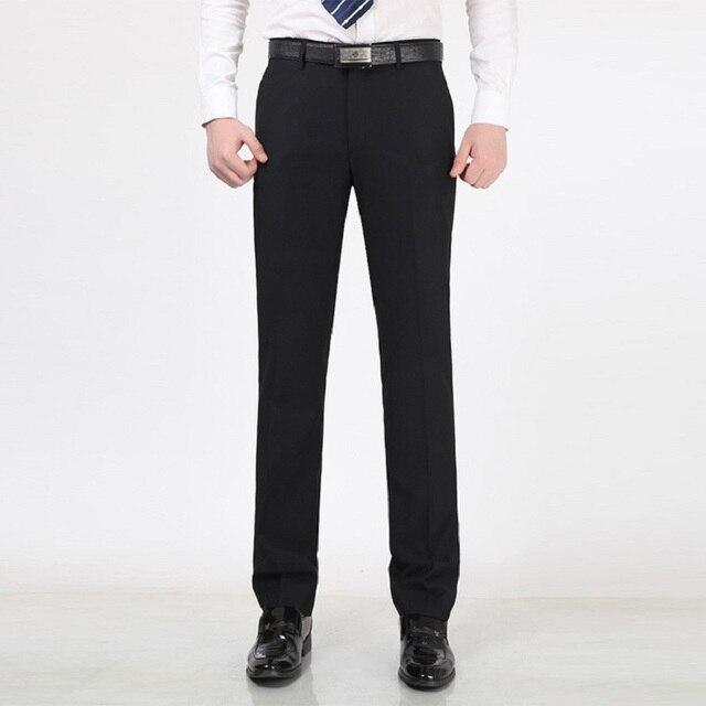 98468beb5d2 Men Suit Pants 2015 Spring Autumn Fashion Mens Business Formal Dress Black Pants  Casual Men Trouser
