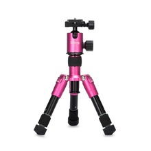 Selens SE-Tmini 18.2in Portable Camera Tripod with Ballhead and Protect Bag for Canon Nikon Sony Cameras and Camcorders (Rose)