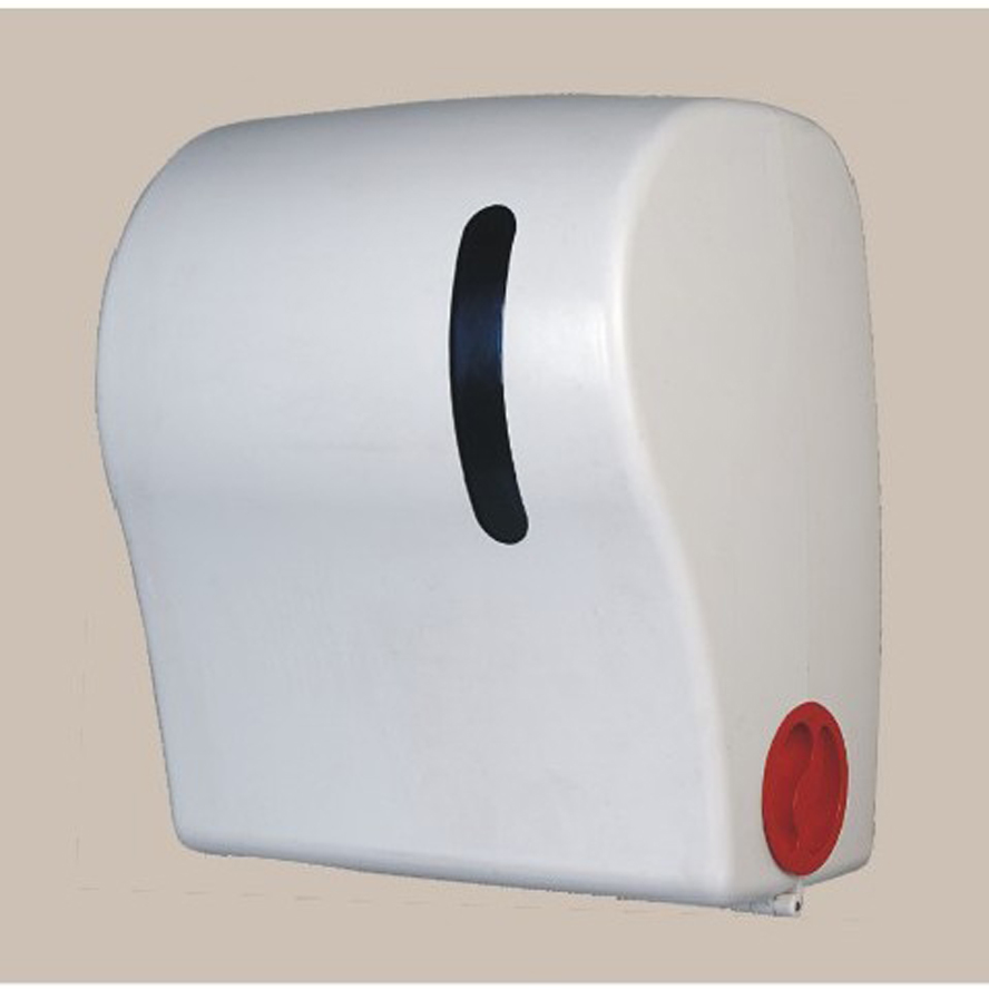 AUTO CUT Jumbo Roll Paper Towel Dispenser Tissue Container With Lock NO  POWER