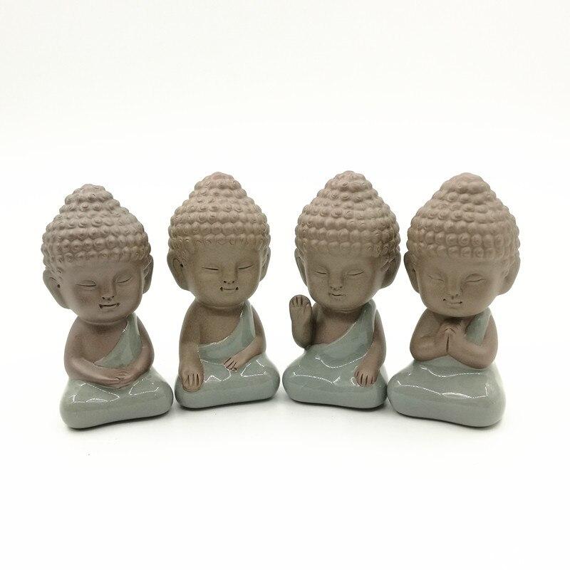 Buddha statue figurine dekoration mönch tee pet auto zubehör bonsai garten haus dekoration tathagata Indien Yoga Mandala
