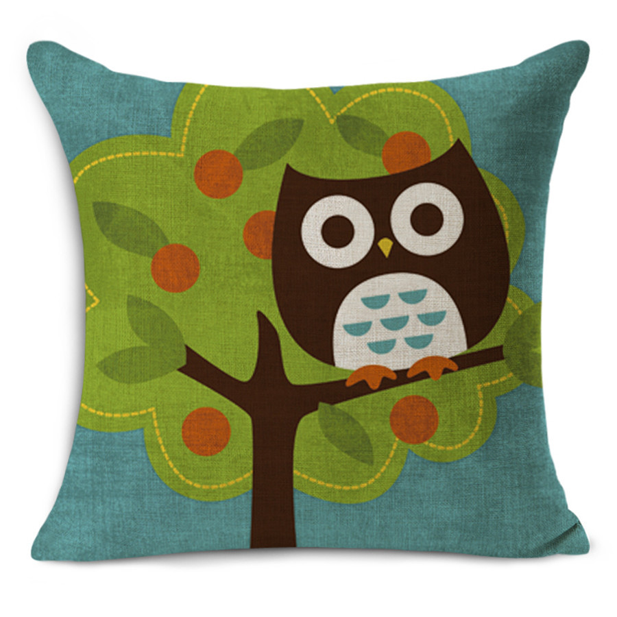 Cute Owl Decor Us 4 83 Cheap Car Seat Linen Cushion Nordic Vintage Cute Owl Printed Outdoor Chair Cushions Home Decor For Sofas Pillow Myj 1620 In Cushion From