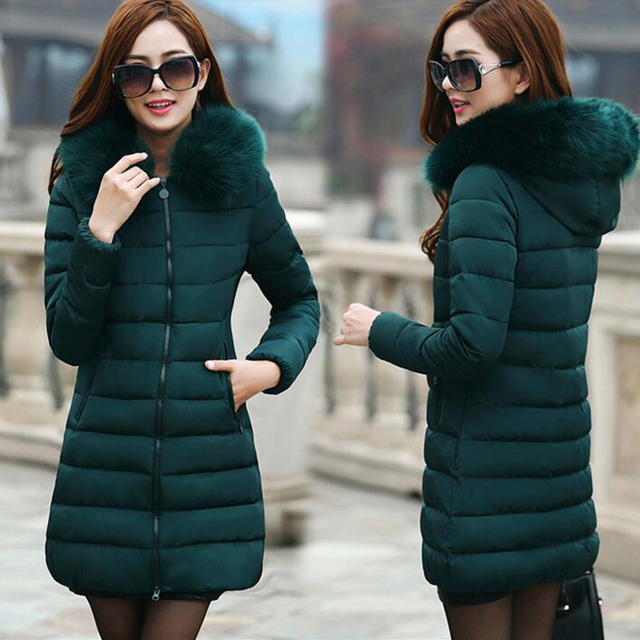 Refeeldeer Plus Size 4XL Winter Jacket Women's 2017 Fur Collar Thick Warm Cotton Parka For Women Winter Jacket Coat Female
