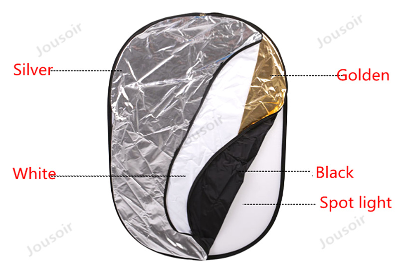 Five-in-two large-size reflector studio Photographic equipment 100*150cm reflector panel with portable bag CD50 T03