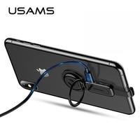USAMS OTG зарядное устройство для iPhone адаптер 2 в 1 для Lightning адаптер аудио держатель кольца переходника для iPhone XS X 7 8 Адаптер стенд