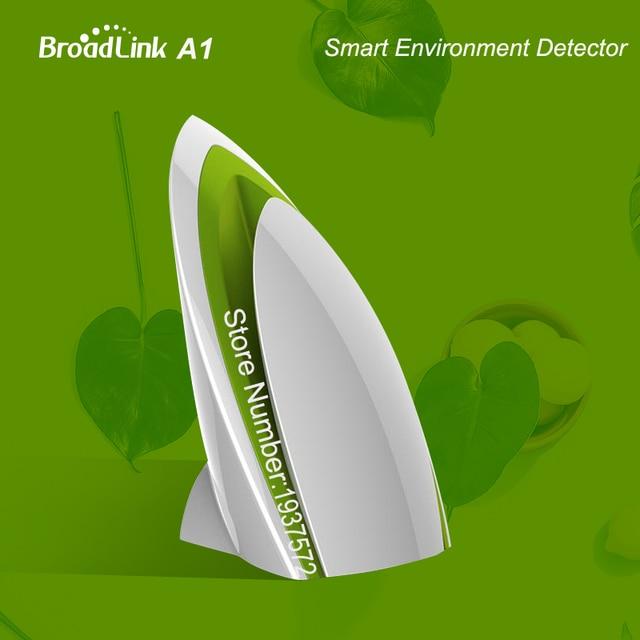 Broadlink A1,Wifi Air Quatily Detector Tester,App Detect Temperature Humidity Noise,IR/RF/WIFI,Smart Home Remote Control,E-Air