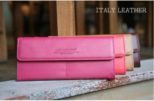 2012 hot design women's long  PU day clutch wallet/billfold/candy color,free shipping