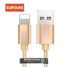 Suntaiho for iPhone XR XS MAX Fast Charging Nylon USB Cable for iPhone X 8 Cable USB Charging Date Cable for iPhone 7plus 6splus
