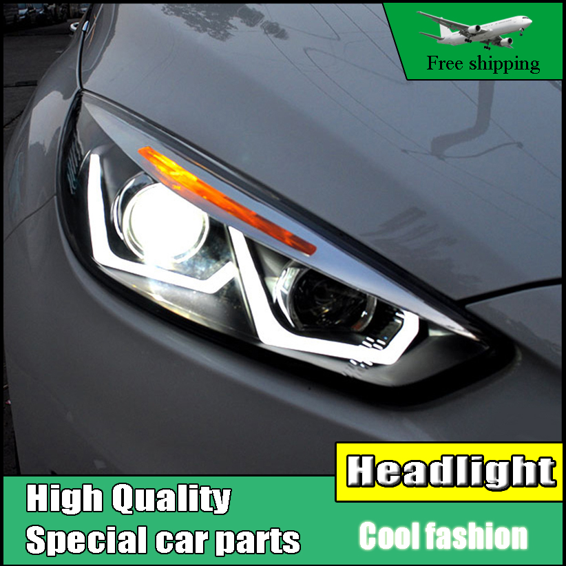 Car Styling Head Lamp For Ford Focus MK3 Headlights 2015-2017 LED Headlight DRL Daytime Running Light Bi-Xenon HID Accessories
