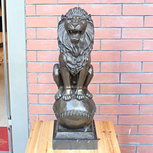 the lion king of jungle animal sculpture bronze works art decoration decorative gift Home Furnishing