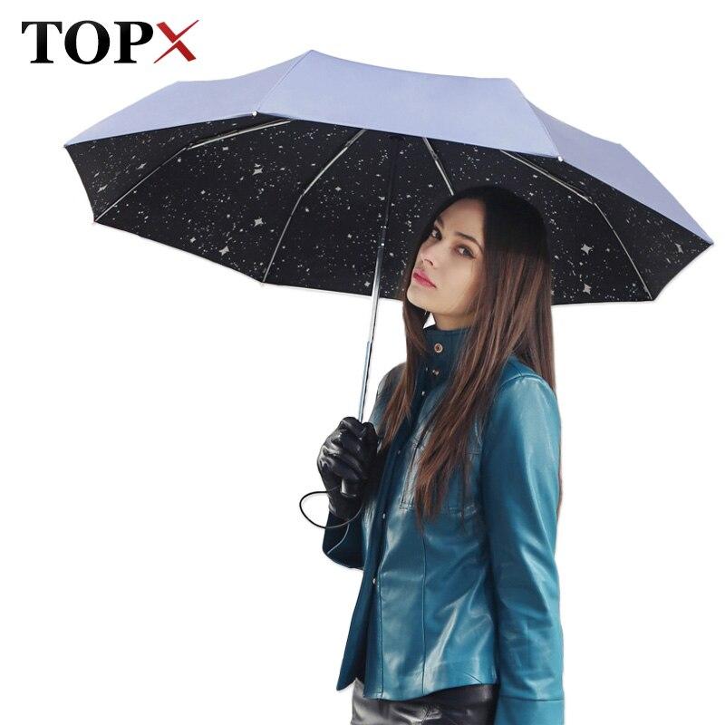 Creative météor douche parapluie pluie femmes hommes automatiquement ouvrir trois fois ombre soleil parapluie coupe-vent grand Parasol paraguay