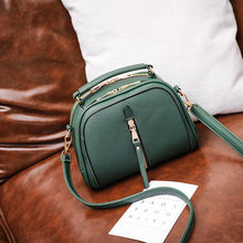 HOT Circular Design Fashion Women Shoulder Bag Leather Women's Crossbody Messenger Bags Ladies Purse Female Round Bolsa New C407(China)