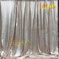 LQIAO 3mx6m Champagne Sequin Backdrop,Party Wedding Sequin Photo Booth Backdrop Decor,Photo Backdrop,Sequin Curtain 10ftx20ft
