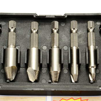 цена на 5PCS/Set Double Side Damaged Screw Extractor Drill Bits Out Remover Bolt Stud Drill Tool Screw Easy Take Out Speed Extractor Set