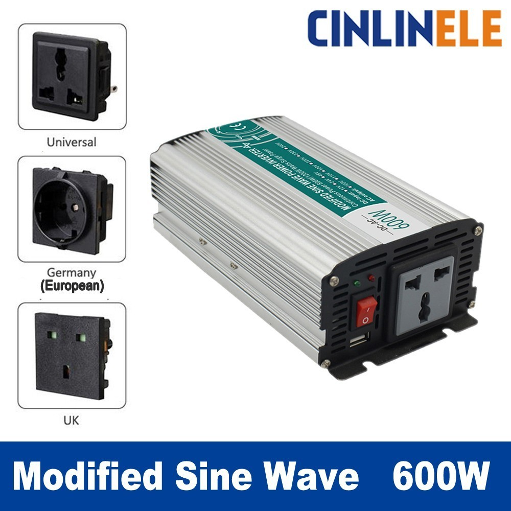 Smart Modified Sine Wave Inverter 600W CLP600A DC 12V 24V AC 110V 220V Smart Series Solar Power Off grid 600W Surge Power 1200W modified sine wave inverter 300w off grid dc 12v 24v to ac 110v 220v smart series solar power 300w surge power 600w
