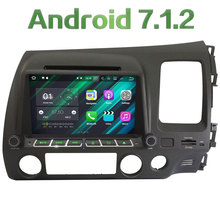 "8"" Android 7.1 Quad Core 2GB RAM 4G Multimedia Car DVD Player Radio Stereo GPS Navi For Honda CIVIC Right Hand Driving 2006-11"
