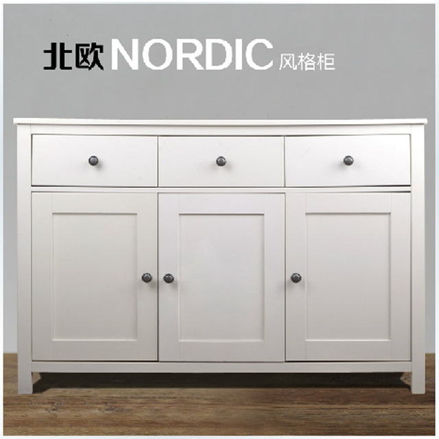 Swedish Exports Meal Side Cabinet Drawer Cabinet Lockers With Doors Drawers  White Minimalist Living Room Cabinet