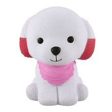 Cute Soft Dog  Squishies Galaxy Puppy Slow Rising Cartoon Cream Scented Stress Relief Toys (Pink)