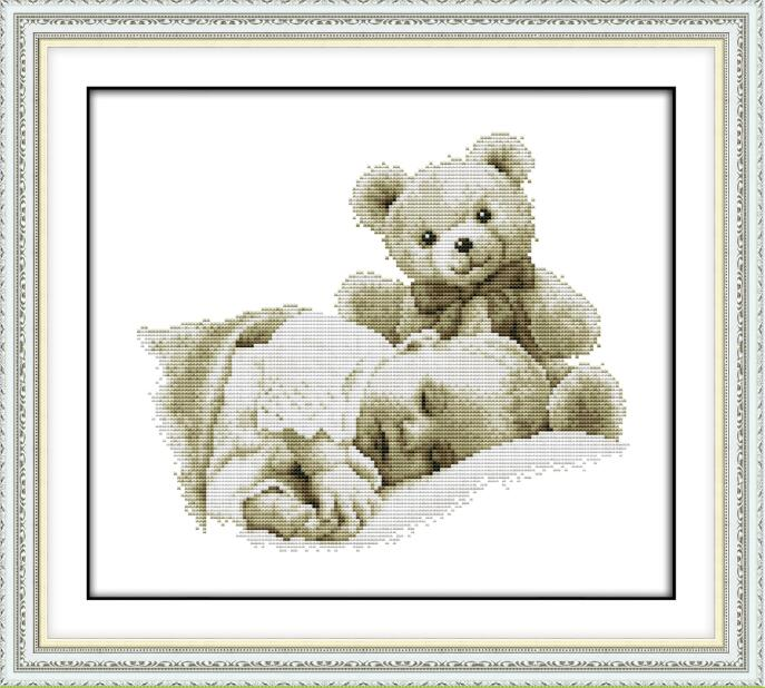 Sleeping Boy And Doll Cross Stitch Kit Aida 14ct 11ct Count Printed Canvas Stitches Embroidery DIY Handmade Needlework