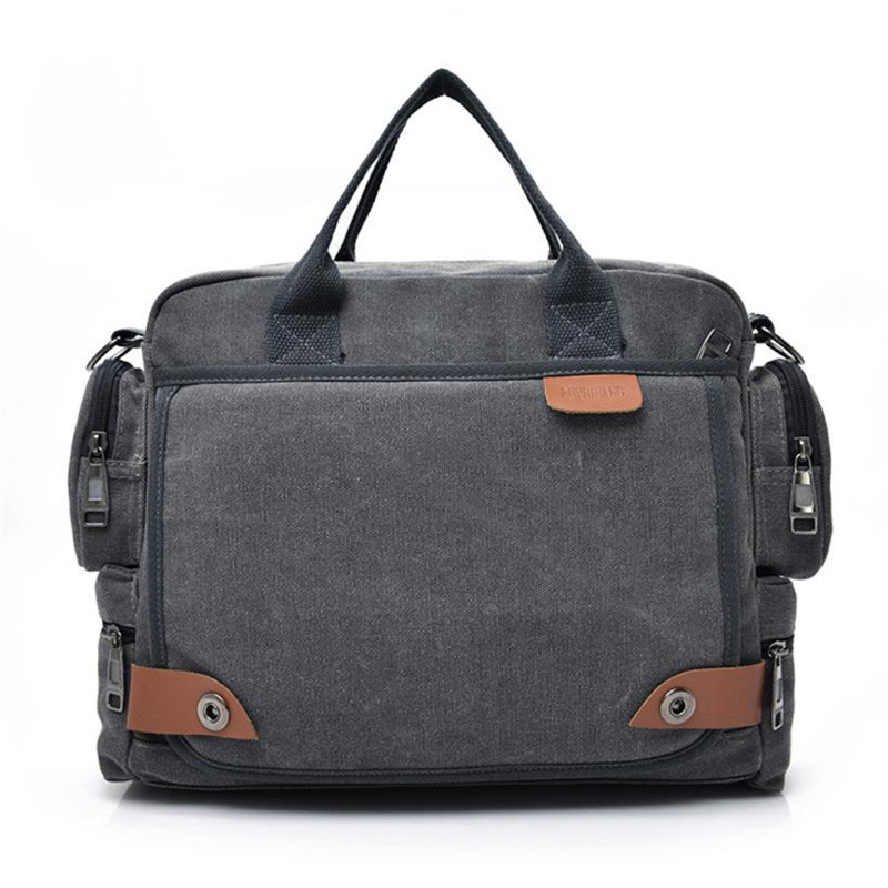 New Leather Briefcases Men Laptop Briefcase Men's Canvas Messenger Shoulder Bag Crossbody Sling Briefcase Bags Satchel Fashion