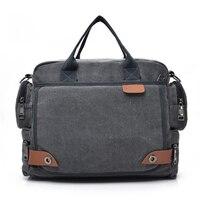 7470d97cfe4fb New Leather Briefcases Men Laptop Briefcase Men S Canvas Messenger Shoulder Bag  Crossbody Sling Briefcase Bags