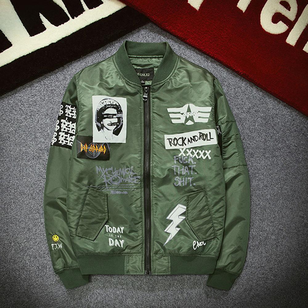 Topdudes.com - New Street Fashion Men's Bomber MA1 Retro Embroidery Jacket