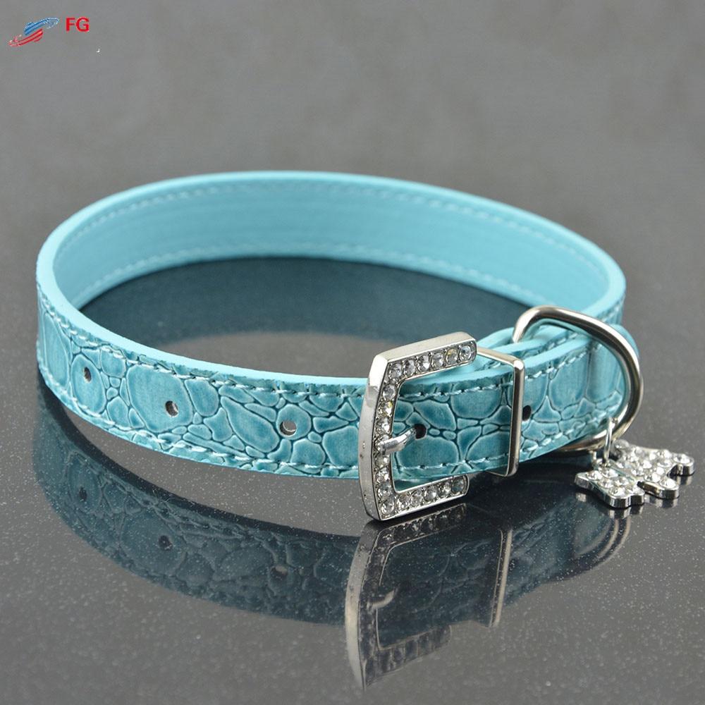Bling Rhinestone Crystal kožni ljubimac pas mačka ogrlice podesivi - Kućni ljubimci - Foto 4