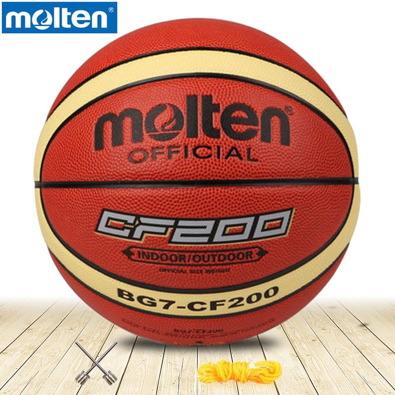 Original Molten Basketball Ball BG7-CF200 High Quality Genuine Molten PU Material Size7 Basketball Free With Net Bag+ Needle