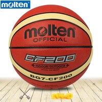 original molten basketball ball BG7 CF200 High Quality Genuine Molten PU Material Size7 Basketball Free With Net Bag+ Needle